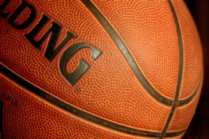 Close-up on basketball
